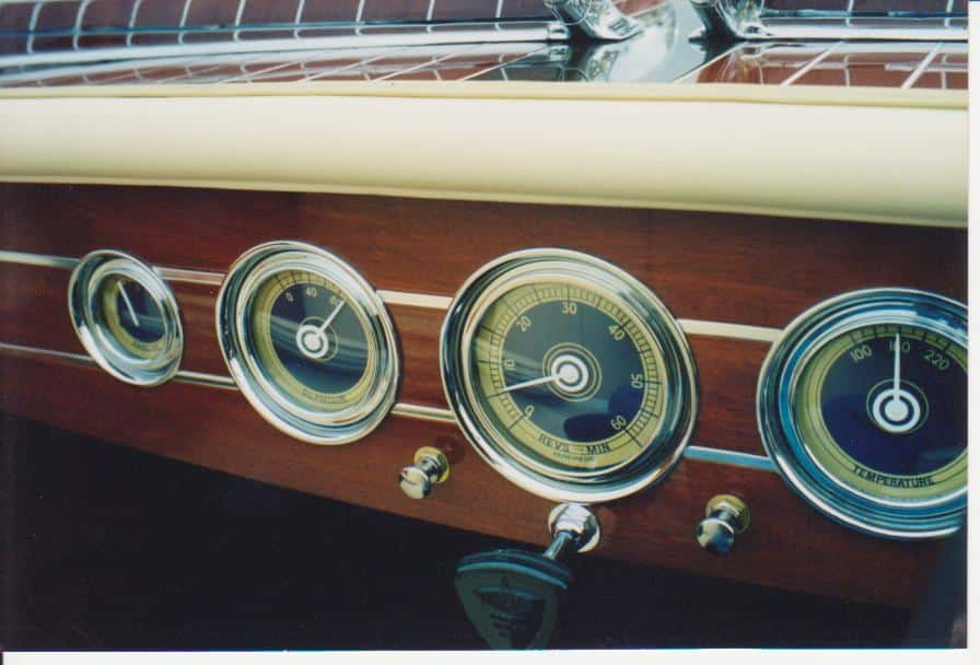 1940 Barrel Back Instrument Panel, 1